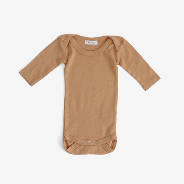 Otis Long-sleeve Onesie - Cafe