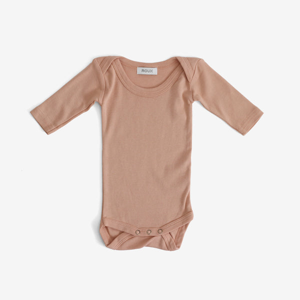 Otis Long-sleeve Onesie - Peach