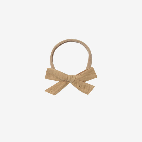 Classic Bow Headband - Honey