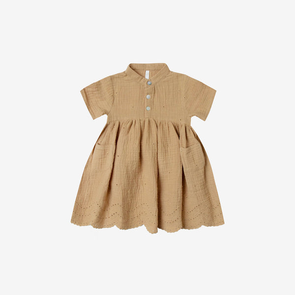 Esme Cotton Eyelet Dress - Honey