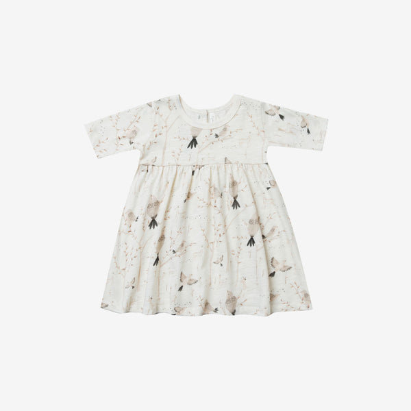 Finn Jersey Dress - Winter Birds