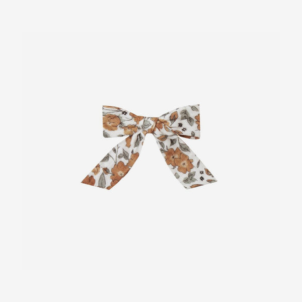 Girl's Big Bow Clip - Autumn Bloom