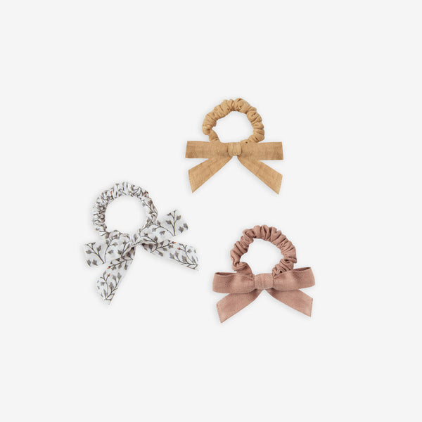 Little Bow Scrunchie Set - Honey/Leaf/Truffle