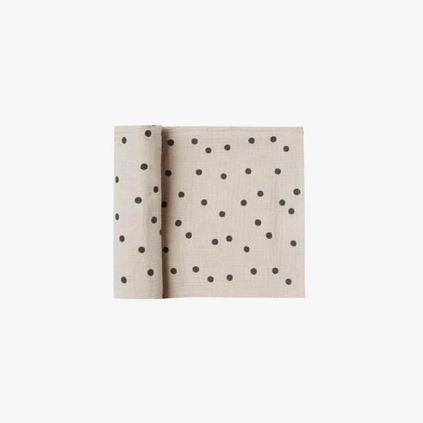 Organic Muslin Swaddle - Wheat Dot