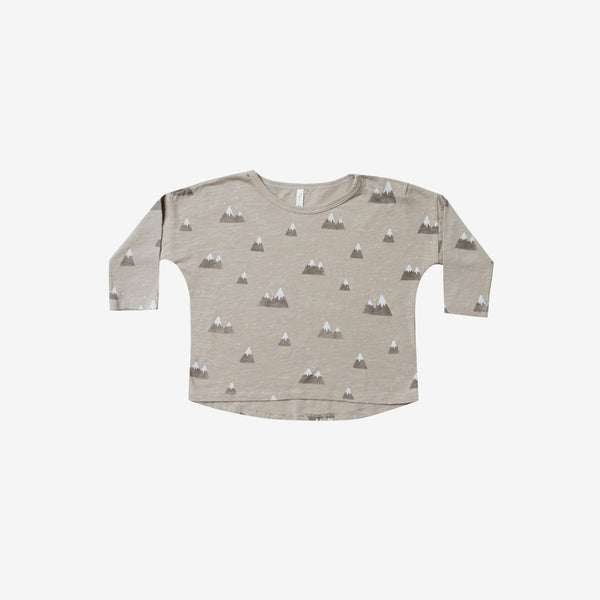 Slub Jersey Long-sleeve Tee - Mountains