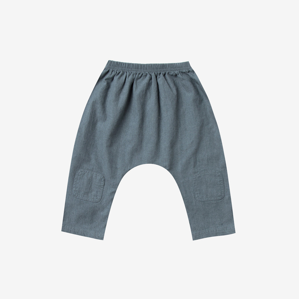 Baggy Woven Harem Pant - stormy blue