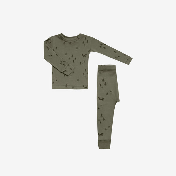 Organic Cotton Pajama Set - Forest