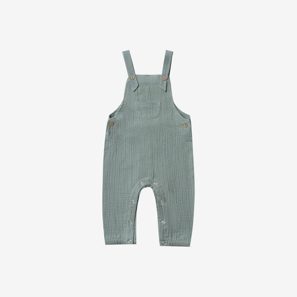 Classic Cotton Woven Crepe Baby Overall - Sea