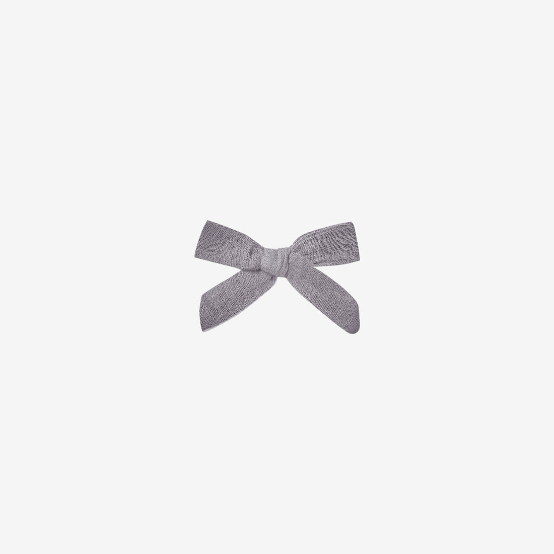 Cotton Woven Hair Bow Clip - Periwinkle