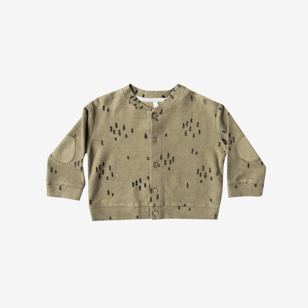 Evergreen French Terry Baby Cardi