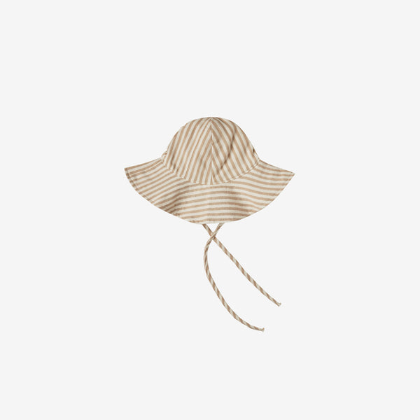 Floppy Sun Hat - Almond Stripe