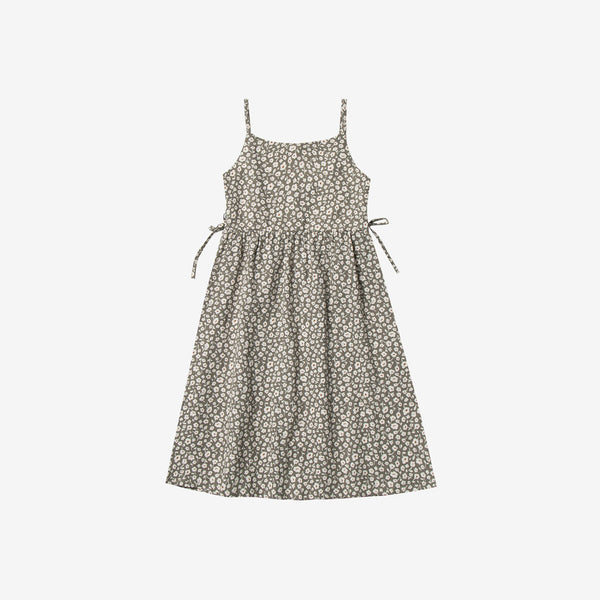 Flora Lacy Linen Woven Sun Dress - Olive
