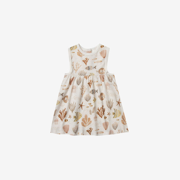 Layla Cotton Jersey Sundress - Sea Life