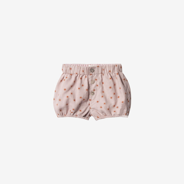 Linen/Cotton Button Short - Lilac Sunburst