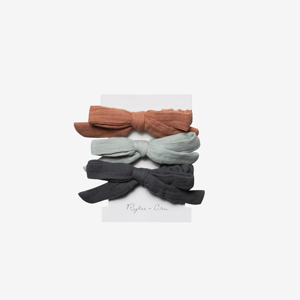 Little Bow Scrunchie Set - Seafoam/Passionfruit/Storm