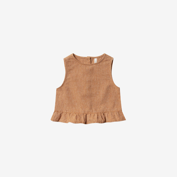 Oceanside Linen/Cotton Tank Top - Bronze