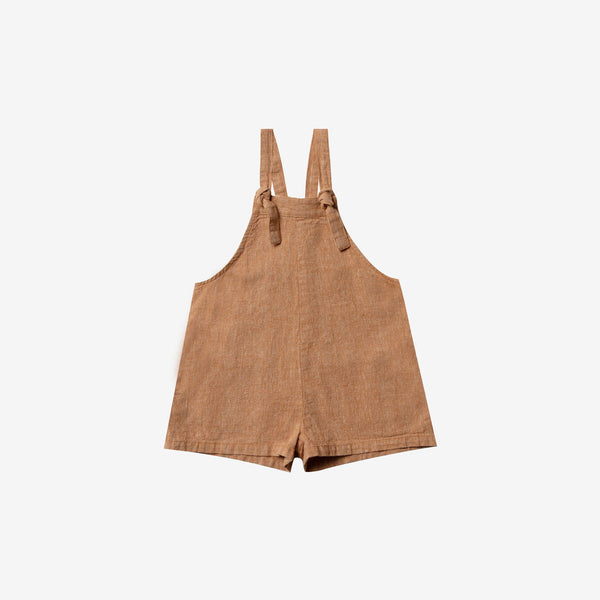 Skipper Linen/Cotton Short Overall - Bronze