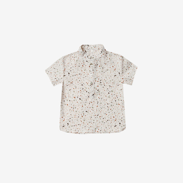 Terrazzo Mason Cotton Woven Button-down Shirt