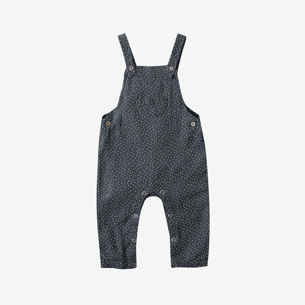 Baby Bib Overall - Midnight Dot