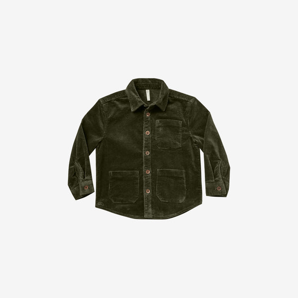 Cotton Corduroy Button-down Shirt - Forest