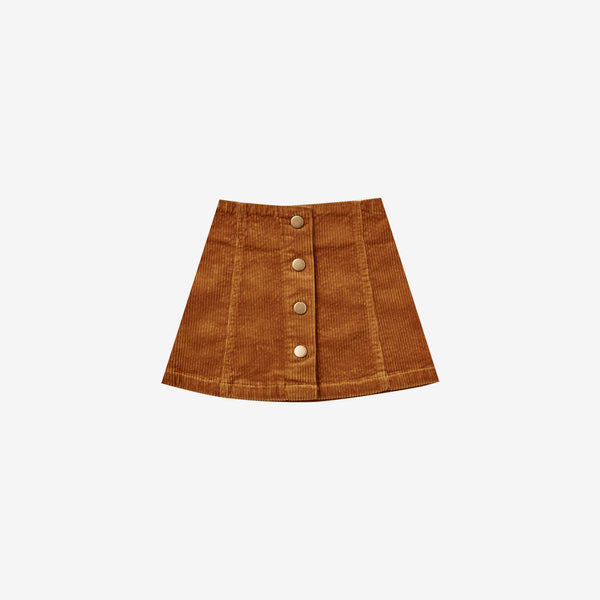 Cotton Corduroy Retro Mini Skirt - Cinnamon