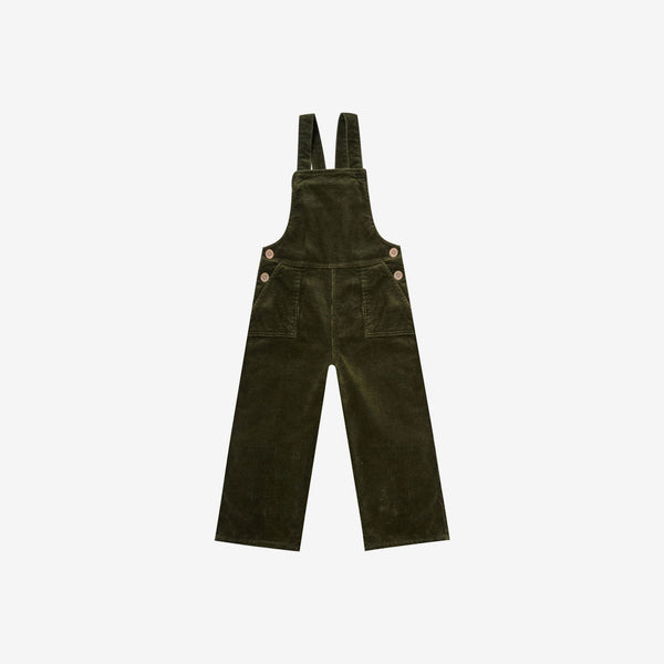 Cotton Corduroy Wide Leg Overall - Forest