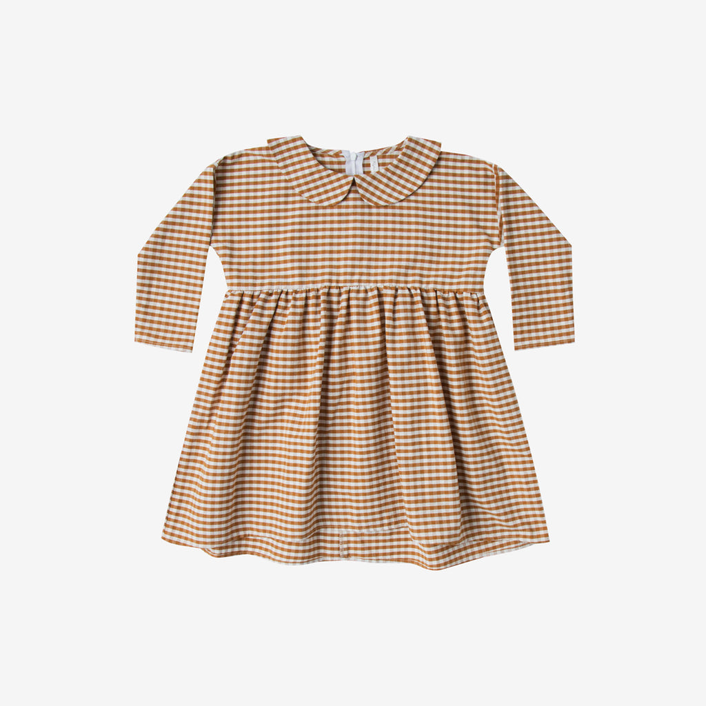 Saddle Gingham Collared Dress