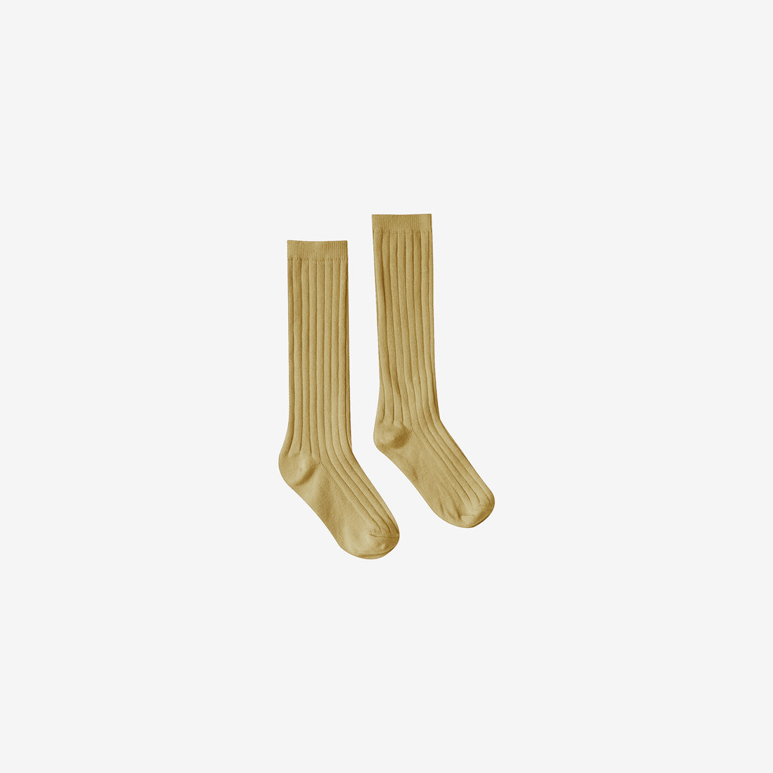 Organic Rib Knee Socks - Citron