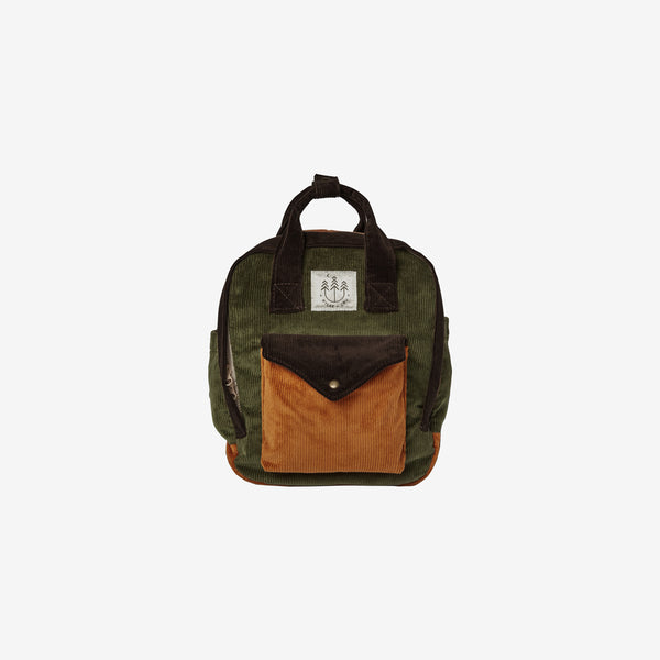 Kid's Backpack - Mini Corduroy in Forest