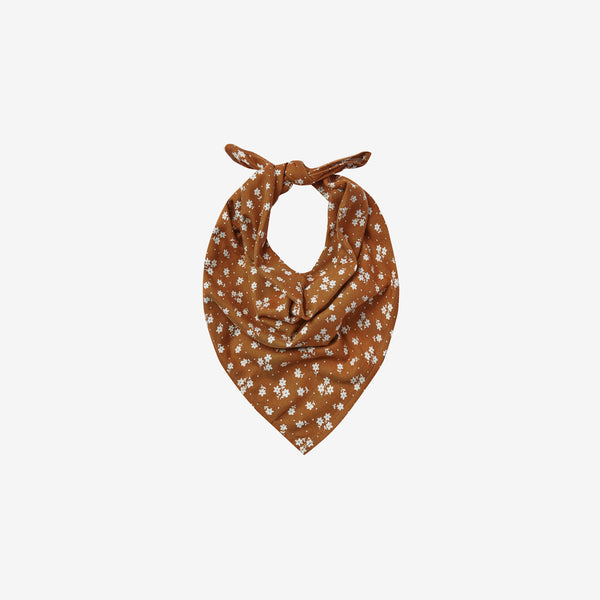 Floral Woven Neck Scarf - Cinnamon