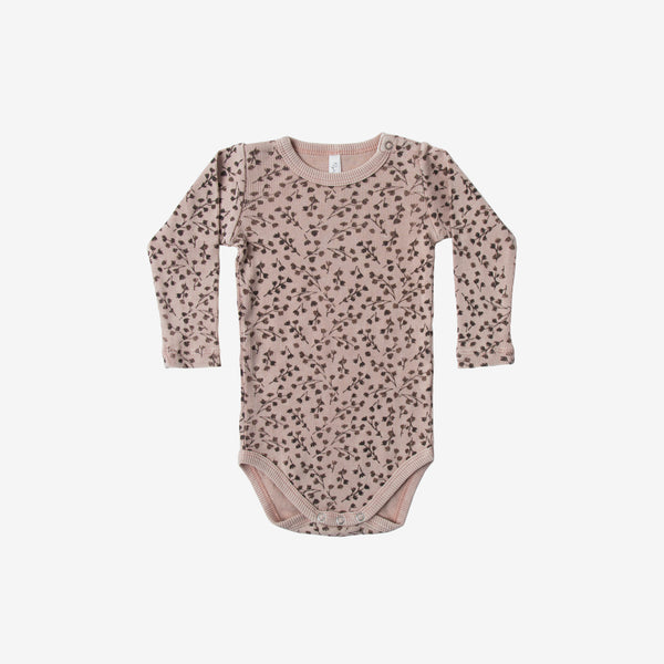 Dried Flowers L/S Ribbed Onesie