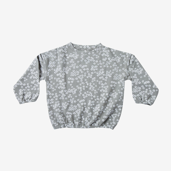Slouchy Cotton Pullover - Flower Field