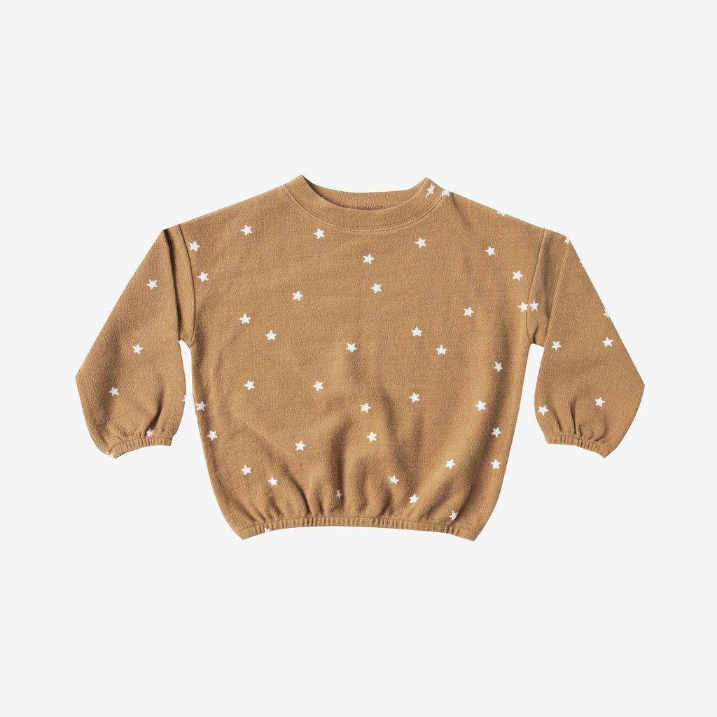 Slouchy Cotton Pullover - Stars