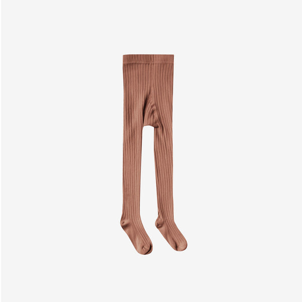 Lightweight Rib Cotton Tights - Passionfruit