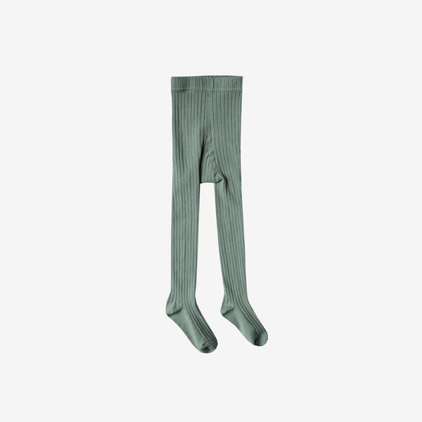 Lightweight Rib Cotton Tights - Rainforest