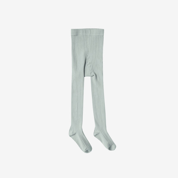 Lightweight Rib Cotton Tights - Seafoam