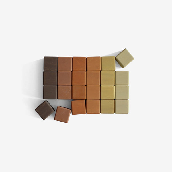 Cube Blocks Set - Olive