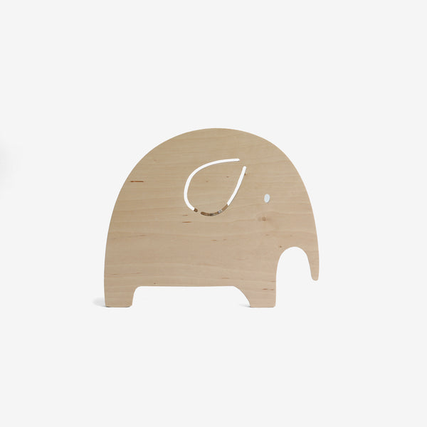 Natural Wood Nightlight - Elephant