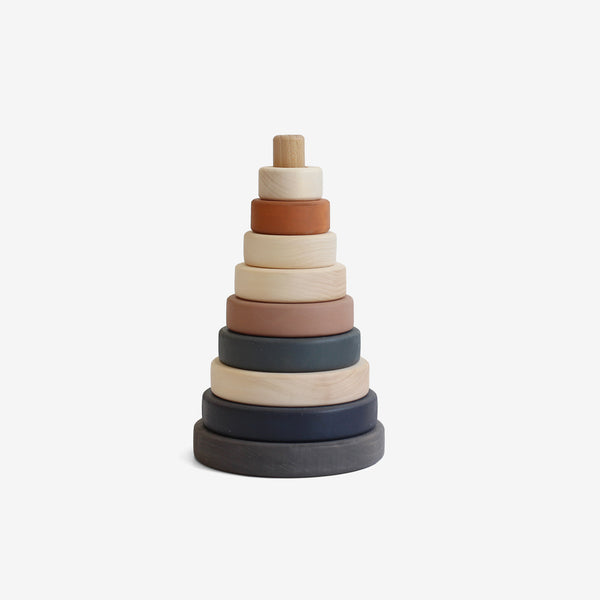 Wooden Stacking Tower - Terracotta