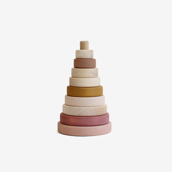 Wooden Stacking Tower - Marsala
