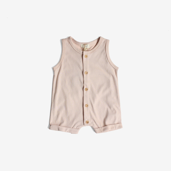 Beach Bum Organic Jersey Playsuit - Blush