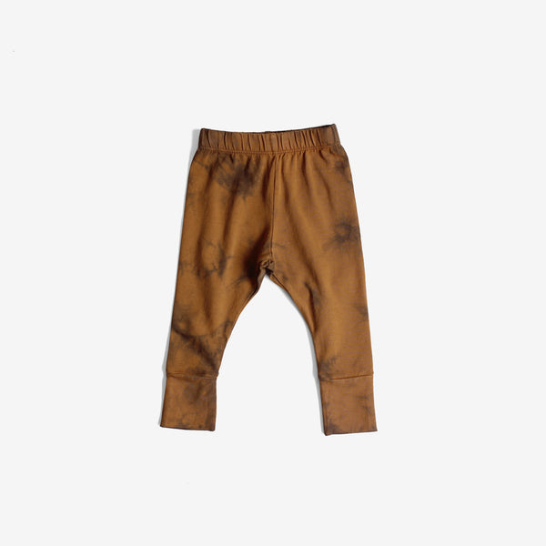 Everyday Organic Jersey Legging - Rust/Indigo Tie-dye