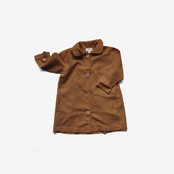 The Jua Linen Jacket - Rust