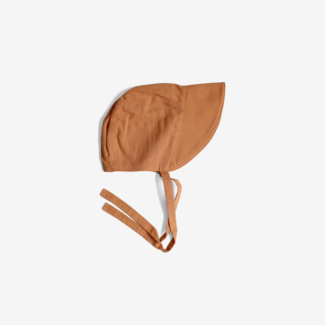 Old-Fashioned Cotton Linen Brimmed Bonnet - Terracotta
