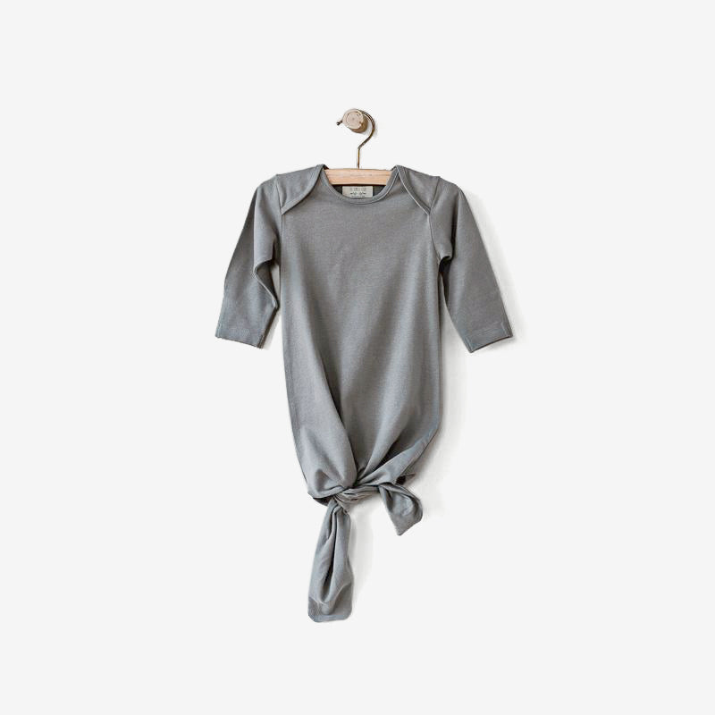 Organic Jersey Infant Sleep Gown - Lead Grey