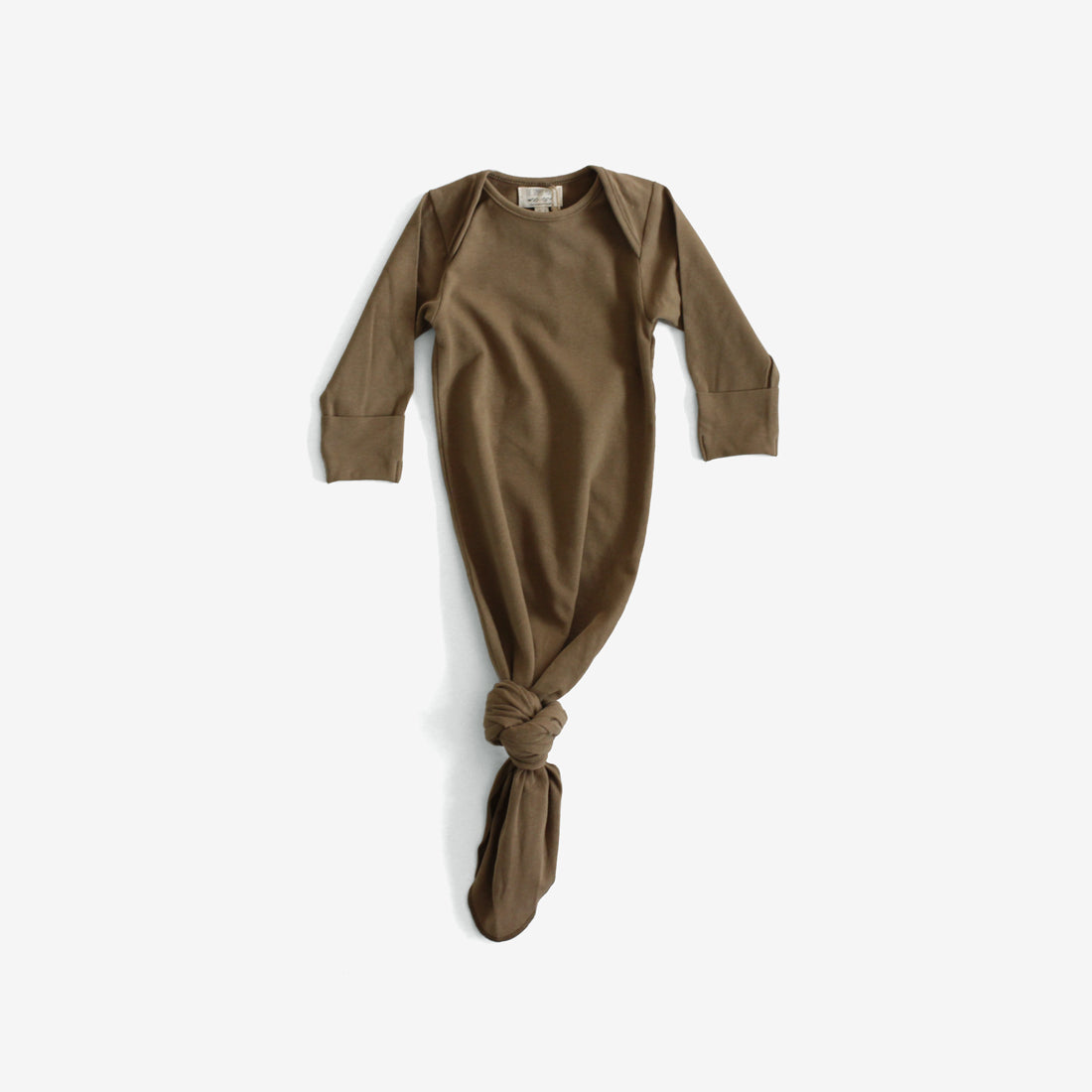 Organic Jersey Infant Sleep Gown - Walnut