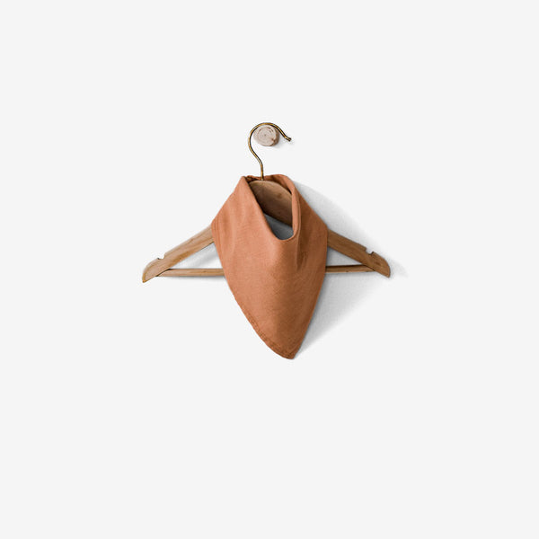 The Linen Bandanna Scarf - Terracotta