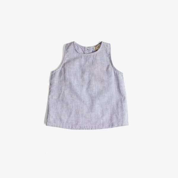 The Wilder Linen Tank - French Stripe