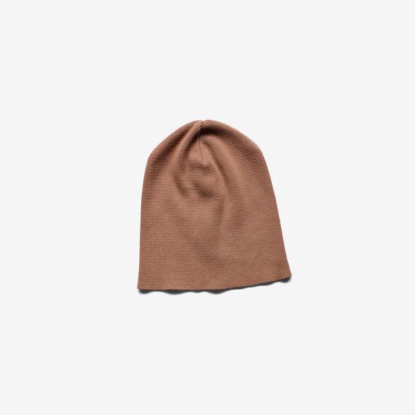 Organic Cotton Knit Beanie - Mocha
