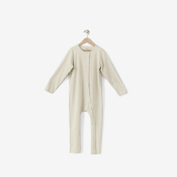The Perfect Pajama Organic Cotton Long John - Cream